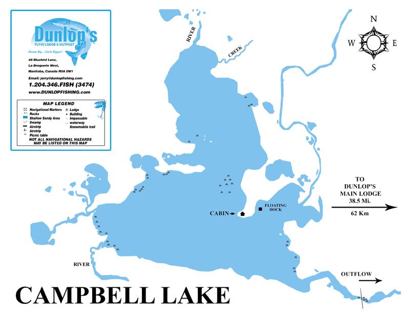 Fishing Lake Maps - Trophy Northern Pike Fishing - Manitoba